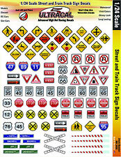 MG3450 - 1/24 High Def UltraCal Decals Street & Train Track Signs