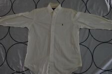 Vintage VTG Ralph Lauren Men Dress Shirt 15 1/2 32 White Collar Yarmouth Cotton