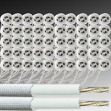 GU10 Fassungen Halogen, LED Lampe Sockel Fassung Keramik Kabel Silikon
