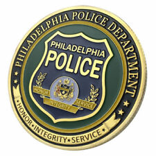U.S. United States | Philadelphia Police Department | Gold Plated Challenge Coin