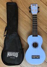Mahalo Rainbow Light Blue Ukulele With Aquila Strings