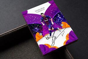Golden Lines Purple Prism Lionel Messi Barcelona FC Unbranded Soccer Card
