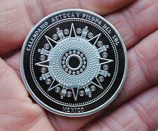 Maya Calendar Silver Plated Coin Souvenir mayan aztec badge pin mexico gift