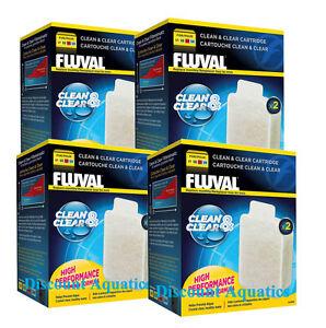 Fluval Clean and Clear Cartridge Aquarium Fish Tank Filter Media U1 U2 U3 U4