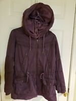Womens Kenzo Parka Jacket with Hood Size Small or 36 Plum/Eggplant NICE!