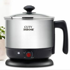 1.2L Electric Cooker Hot Water Pot Cordless Kettle Ramen Soup Noodle Easy Cook