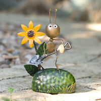Ant With Shovel Small Metal Fairy Garden Ornament Art Sculpture Decoration Decor