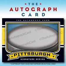 The Autograph Card Blank Signature cards 25 HOCKEY for Pittsburgh Penguins Auto