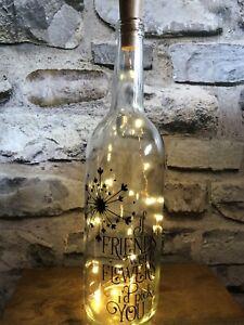 If Friends  Were Flowers I'd Pick You Light Up Wine Bottle Best Friend Present
