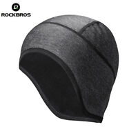 ROCKBRS Cycling Thermal Beanie Hat Windproof Elastic Reflective Helmet Liner Cap
