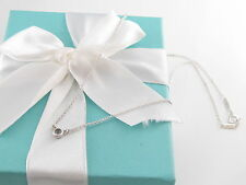 NEW TIFFANY & CO PERETTI SILVER AQUAMARINE BY THE YARD NECKLACE BOX INCLUDED