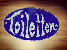 Toiletten Schild, Emaille Schild, unikat Handarbeit
