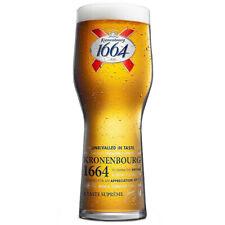 2 x Kronenbourg 1664 Pint Glasses 20oz 100% Genuine Official Pub Brand New