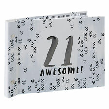 Grey 21st Birthday Guest Book With Photo Album Gift Boxed Luxe by Hotchpotch
