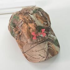 Under Armour Realtree Camo Hat One Size Strap Back Pink Cap