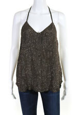 Haute Hippie  Womens Tank Top Dark Military Green Sequined Size Small LL19LL