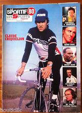 LE SPORTIF 80 du 8/01/1980; Claude Criquielion/ Bjorn Borg/ Henry Rono/ Goethals