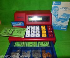 LEARNING RESOURCES PRETEND PLAY CALCULATOR MONEY BILLS COIN CASH REGISTER TOY