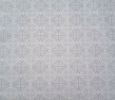 Moonflower Bty Denise Urban Quilting Treasures Gray White Floral Medallion