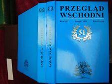 PRZEGLAD WSCHODNI 50 & 51/KWARTLANIK/2 BOOKS/SCARCE