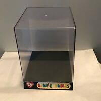 New Official Licensed Ty Beanie Baby Plastic Acrylic Display Case and Stand
