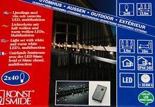 LED Lichterkette Konstsmide für aussen 80 LED's warm+kalt weiß Balkon Garten