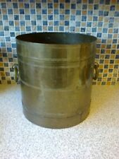 VINTAGE BRASS COAL BUCKET, PLANT POT PLANTER
