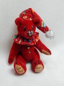 "World of Miniature Bears By Theresa Yang 2.5"" Plush Bear Red #1035 Closing"