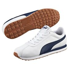 Men's Puma Turin Classic Sneakers White/Navy Blue Gum Sole Life Style 10.5