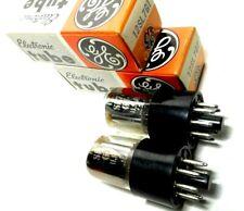 Match Codes PAIR 12SL7GT Tubes GE USA NOS NIB Chrome VT-289 Dual Triode Darling