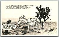 ARIZONA DESERT HOME CARTOON 1946 VINTAGE REAL PHOTO POSTCARD RPPC