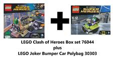 LEGO Clash of heroes set 76044 & Polybag Joker Bumper Car 30303 DC Super Heroes