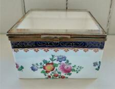 Exquisite 19th C Copeland Spode Glazed & Hand Painted Porcelain Display Box