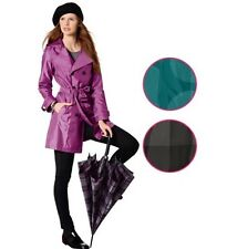Esmara waterproof  womens trench coat with removable hood size UK 10-12-14