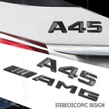 A45 AMG Emblem Glänzend schwarz Zeichen aufkleber Schriftzug Mercedes Benz W176