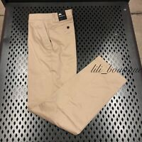 NWT Nike 937986-235 Men's SB Dri-Fit FTM Standard Fit Pants Khaki Beige Size 34