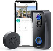 1080P Wireless WiFi Doorbell Video Camera w 2-Way Audio Local Storage Nightvisio