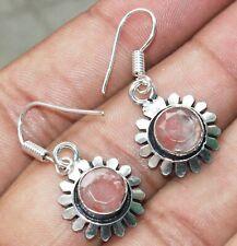 Peach Quartz Gemstone Dangle Earring 925 Sterling Silver Overlay U239-D67