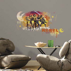 STAR WARS REBELS WATERCOLOR GiaNT WALL DECALS BiG Kids Room Stickers NEW Decor