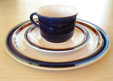 IMPERIAL BLUE MW150 Dinner Plate Cup & Saucer NINE 9 SETS W.M. DALTON STONEWARE