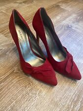Sole Society Red Suede Bow Shoes Pumps size 6.5