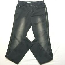 Converse jeans 24 inseam 29 black side zippers NWT