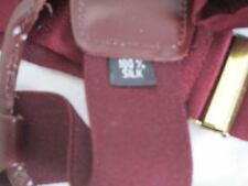 Maroon SIlk Jacquard Suspenders Braces Button On