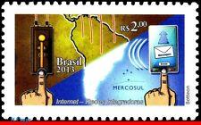3243 BRAZIL 2013 INTEGRATIVE NETWORKS, MERCOSUR, INTERNET, MAPS, COMPUTERS, MNH
