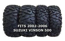 Set of 4 WANDA ATV/UTV Tires 25X8-12 25X10-12 for 2002-2006 SUZUKI VINSON 500