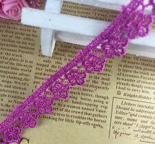 5 Yards Vintage Cotton Flowers lace Crochet Trim Wedding Bridal Ribbon Sewing