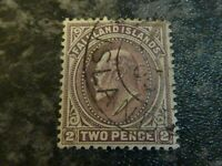 FALKLAND ISLANDS POSTAGE STAMP SG45 TWO PENCE FINE USED