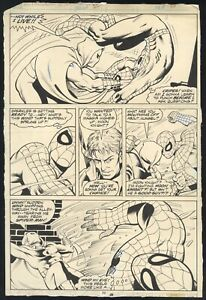 Spectacular Spider-Man #22 Page 30 Original Comic Art Moon Knight Mike Zeck