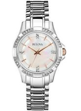 BULOVA WOMEN'S $299 DAZZLING CRYSTALS, TWO-TONE, MOP DIAL, DRESS WATCH  98L180