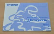 YAMAHA MT-07 MT07 MT07A Manual del Propietario Spanisch Bedienungsanleitung 2015